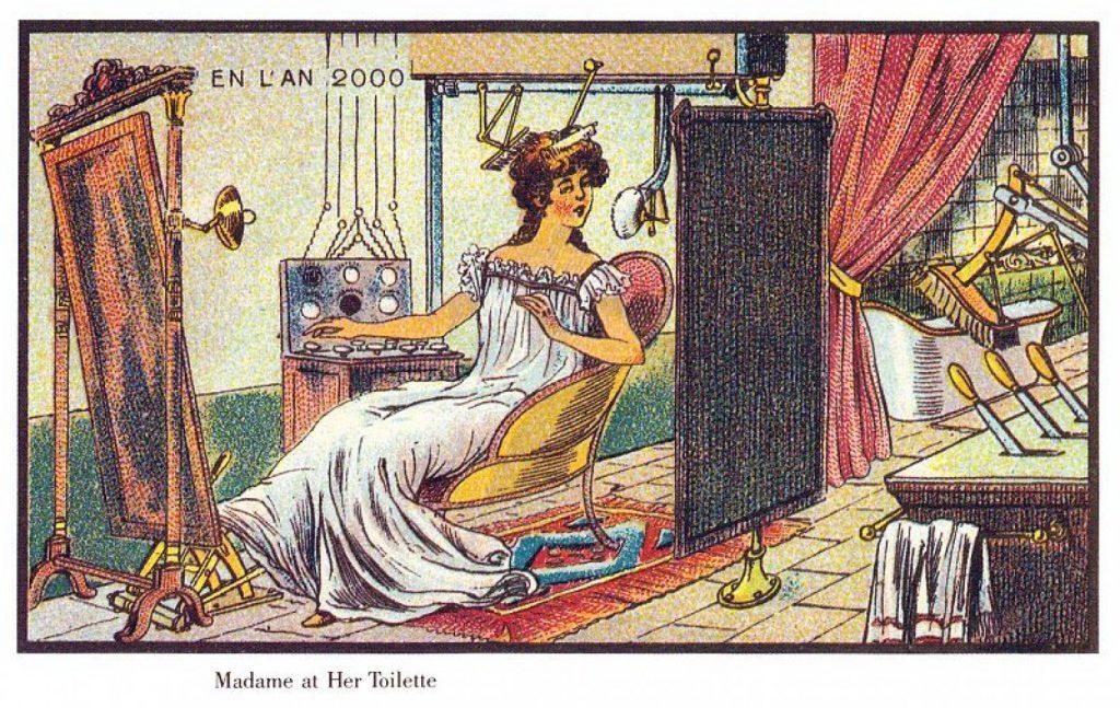 Francia en el Siglo XX por Jean Marc Cote. Madame at her Toilette