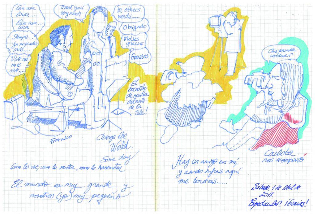 Facilitación Visual-Graphic Recording Fernando Abadia. Código Camiño-Sábado Noche